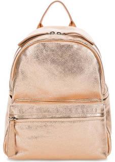 Кожаный рюкзак золотистого цвета Io Pelle