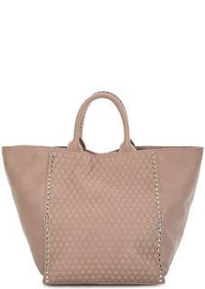 Вместительная кожаная сумкас с отделкой Io Pelle