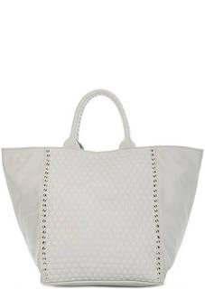 Вместительная кожаная сумка с отделкой Io Pelle