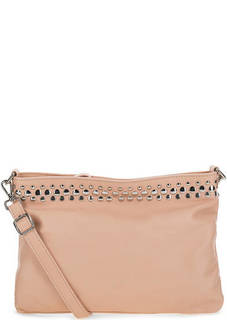 Кожаная сумка с металлическим декором Io Pelle