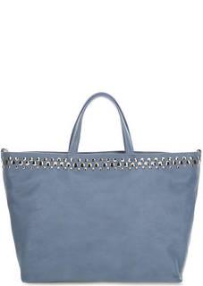 Кожаная сумка с металлической отделкой Io Pelle