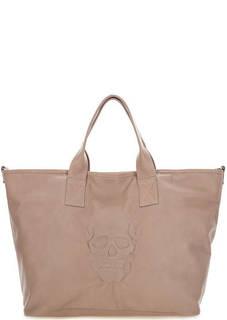 Вместительная сумка из натуральной кожи Io Pelle