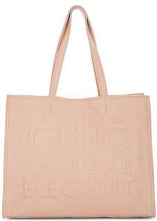 Розовая кожаная сумка с одним отделом Io Pelle
