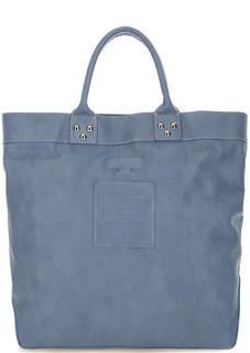 Синяя кожаная сумка Io Pelle