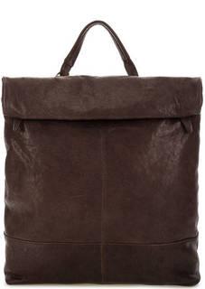 Вместительная сумка-рюкзак из натуральной кожи Bruno Rossi