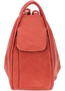 Кожаная сумка-рюкзак красного цвета Bruno Rossi