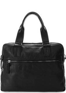 Кожаная сумка с двумя отделами Bruno Rossi