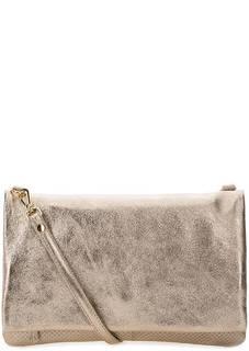 Кожаная сумка золотистого цвета Bruno Rossi