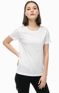 Хлопковая футболка с принтом Karl Lagerfeld
