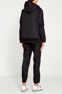 Черная куртка oversize Prada
