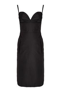 Платье на тонких бретелях Prada
