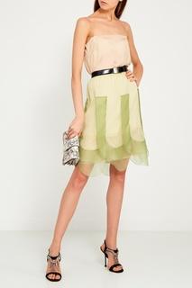 Бежевое платье-комбинация Prada