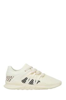 Текстильные кроссовки кремового цвета Adidas