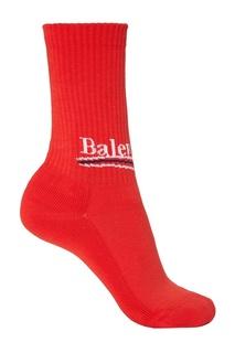 Красные хлопковые носки Balenciaga