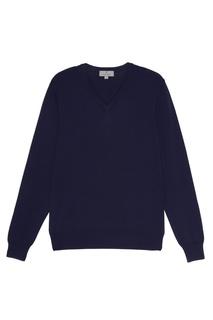 Синий хлопковый пуловер Canali