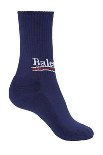 Синие хлопковые носки Balenciaga
