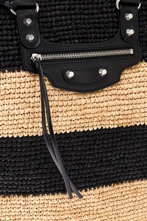 Плетеная сумка-корзинка из рафии Balenciaga