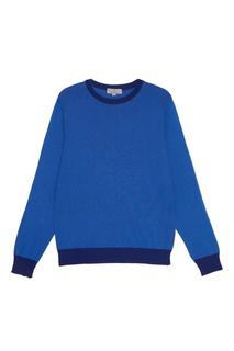 Синий джемпер с контрастными окантовками Canali