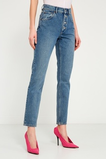 Голубые вареные джинсы Balenciaga
