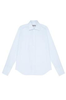 Светло-голубая сорочка из хлопка Canali