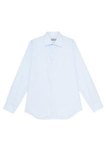 Голубая хлопковая сорочка Canali