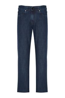 Синие прямые джинсы Canali