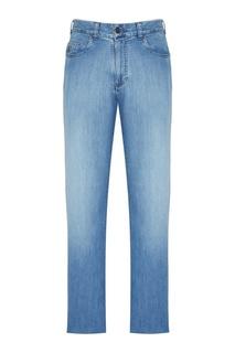 Голубые потертые джинсы Canali