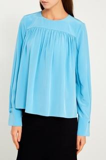 Шелковая блузка с драпировками Diane von Furstenberg