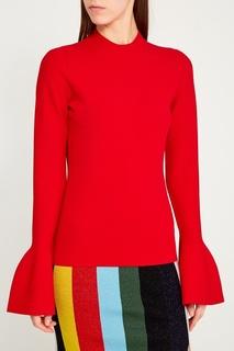 Красный джемпер с расклешенными рукавами Diane von Furstenberg
