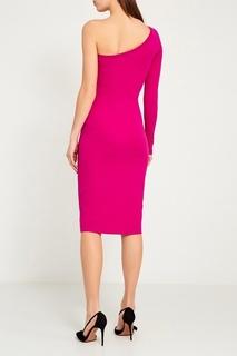 Розовое платье с открытым плечом Diane von Furstenberg