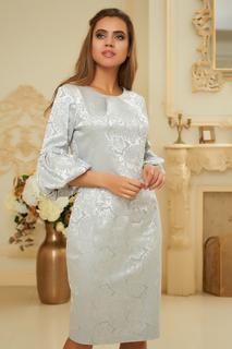 Жаккардовое платье с расклешенным рукавом Vittoria Vicci