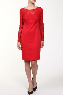 Полуприлегающее платье с кружевом M&L Collection