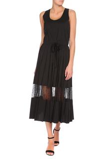 Полуприлегающее платье с кружевом Max Mara