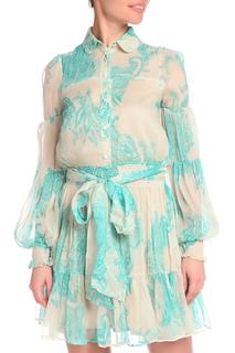 Легкое полуприлегающее платье с застежкой на пуговицы GF FERRE