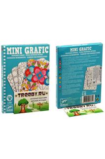 Мини-игра Цветочные раскраски Djeco