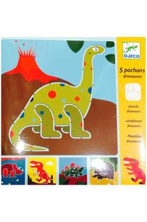 Набор трафаретов Динозавры Djeco