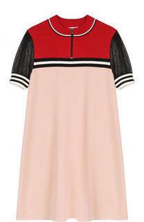 Вязаное мини-платье свободного кроя REDVALENTINO