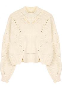 Пуловер фактурной вязки из смеси хлопка и шерсти Isabel Marant