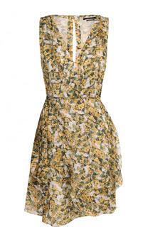 Приталенное мини-платье с цветочным принтом Isabel Marant