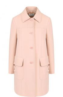 Однотонное пальто прямого кроя с карманами REDVALENTINO