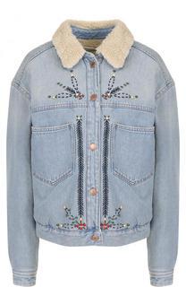 Джинсовая куртка с контрастной отделкой Isabel Marant Etoile