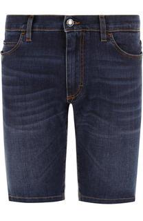 Джинсовые шорты с контрастной прострочкой Dolce & Gabbana