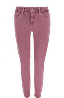 Однотонные укороченные джинсы-скинни Paige
