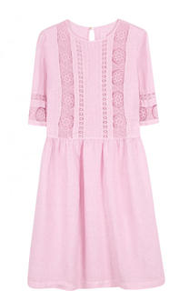 Приталенное льняное мини-платье 120% Lino