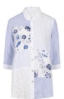 Льняная блуза с укороченным рукавом 120% Lino