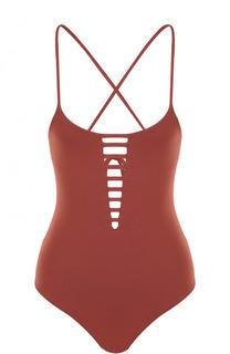 Слитный купальник с открытой спиной и шнуровкой Melissa Odabash