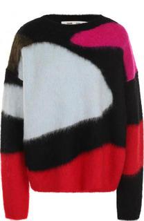 Шерстяной пуловер свободного кроя с круглым вырезом Diane Von Furstenberg