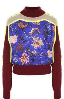 Шерстяной свитер с принтом и высоким воротником Diane Von Furstenberg