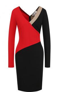 Приталенное платье-миди с V-образным вырезом Diane Von Furstenberg