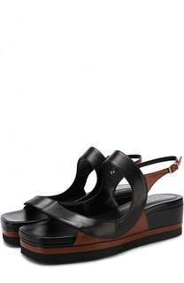 Кожаные сандалии на массивной подошве Dries Van Noten